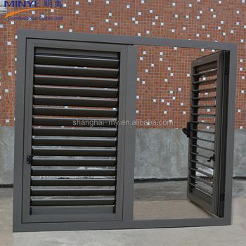 Exterior Glass Louver Door/interior Glass Doors/aluminum Shutter Door