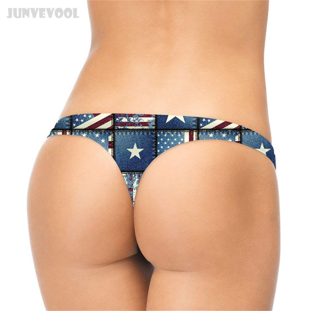 476a99a5efc45 Get Quotations · Jeans Women s Underwear 3D Star Stripe Retro Panties  Seamless Pants