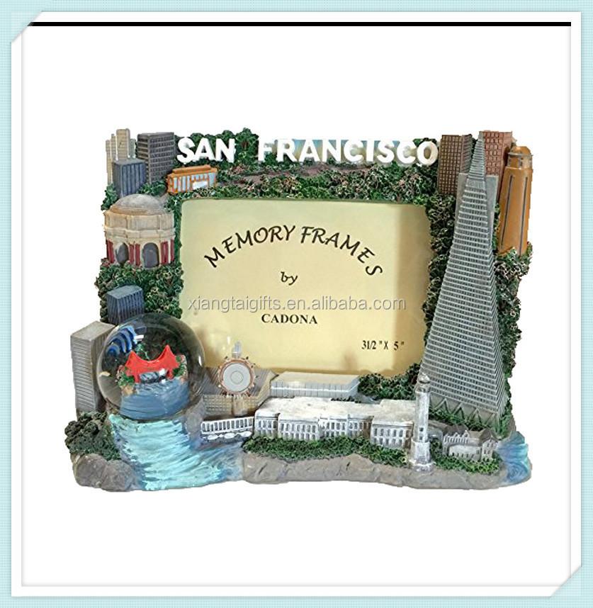 San Francisco Souvenir Wisata Bingkai Foto Dengan Salju Dunia - Buy ...