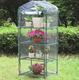 4 TIER 5FT.STRONG POLYPROPYLENE COVER AND REMOVABLE STEEL WIRE SHELVES GREENHOUSE