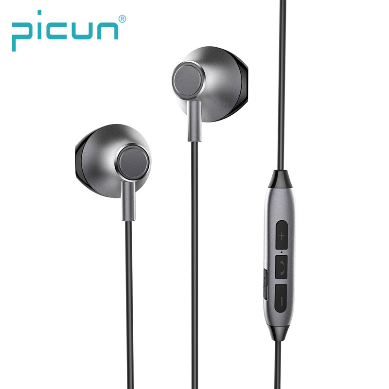 Picun H2 Magnetic Half In Ear Lightweight HD Call Mic Bass Stereo Wireless Sport Sweatproof Bluetooth Earphone фото