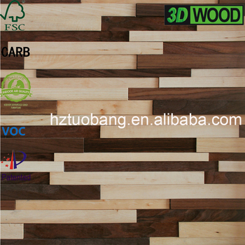 bedroom decorative 3d wood wall panel sticker