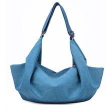 New Arrival Unique Vintage Casual Style Canvas Shoulder Bag Women