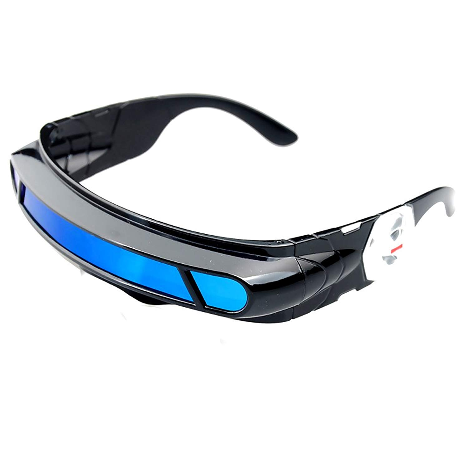 a947e01ff0 Futuristic Cyclops Monoblock Shield Mirrored Polarized Sunglasses UV400