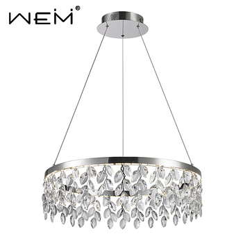 Zhongshan modern hotel lobby LED 34W Ceiling Luxury Large pendant lights, Crystal Chandeliers for Hotels