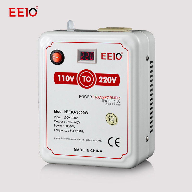3000W 110 to 220 Full Copper Voltage converter Transformer with Voltage Display China Exports Appliances Dedicated