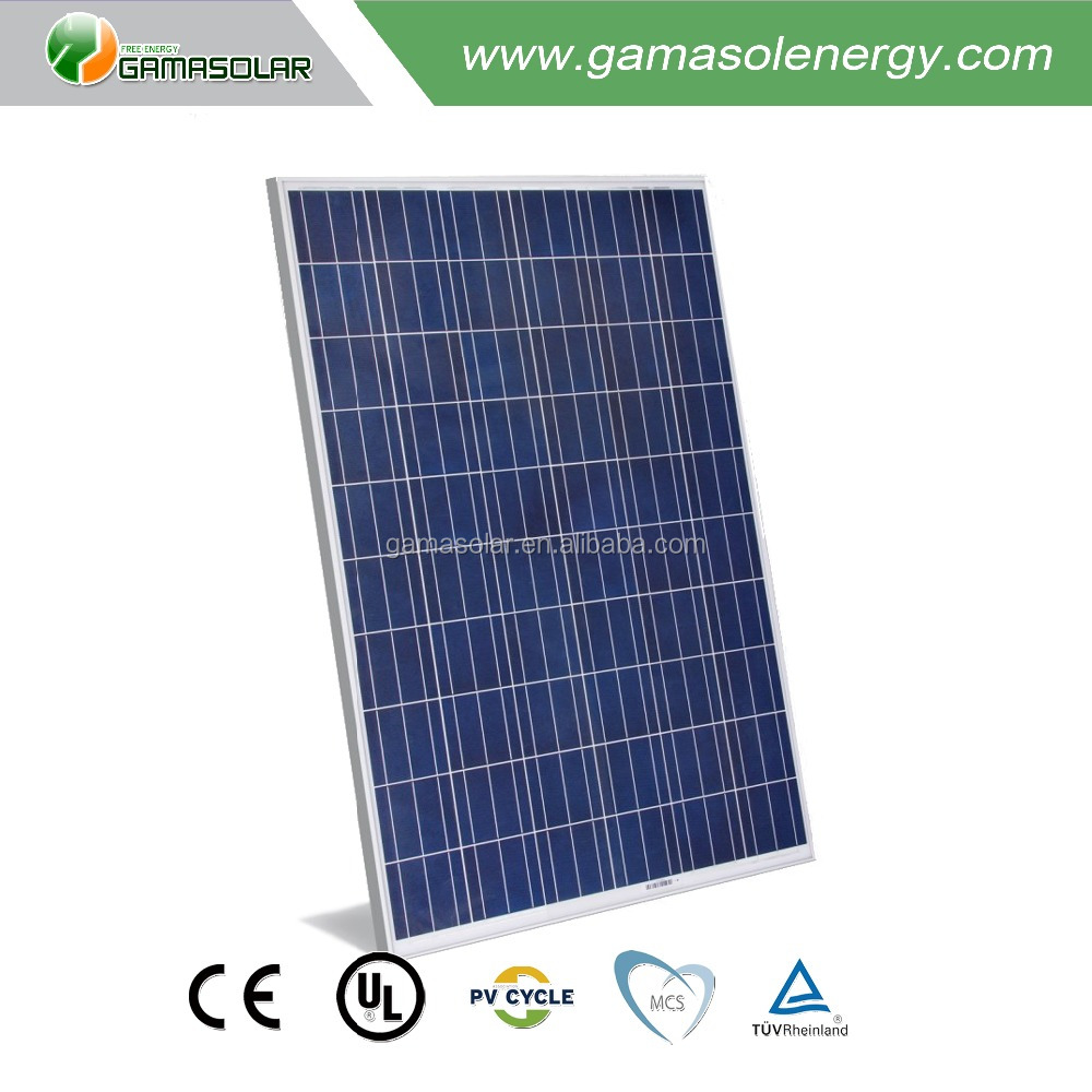 Gama Solar sunpower 250w solar panel poly cell with long service life