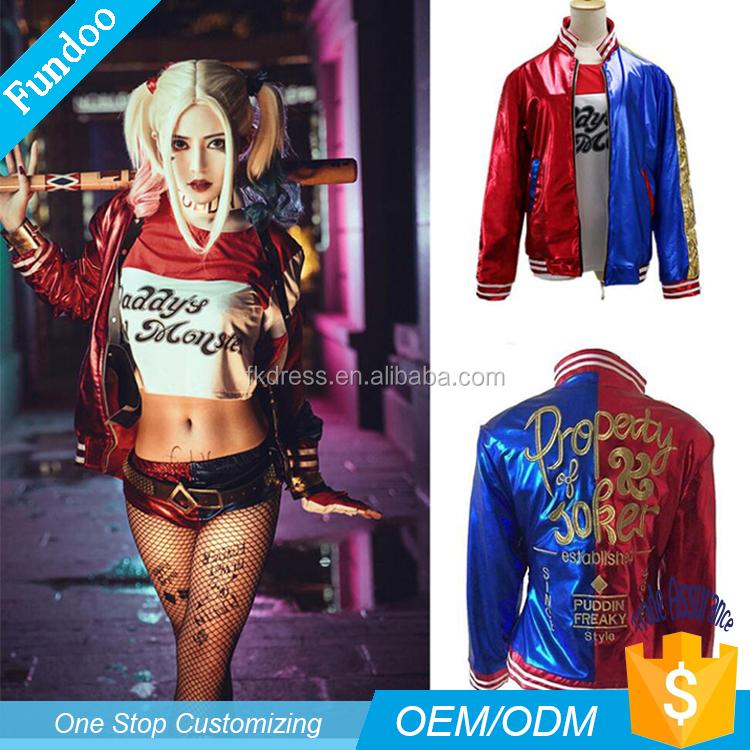 Wholesale DC Comics Suicide Squad gotham girlsHarley Quinn Costume Jacket Movie Halloween