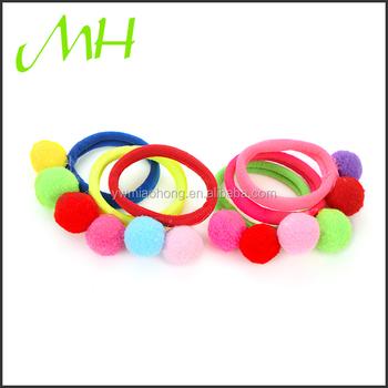 Colorful Women Cute girl Ball Ponytail Holder Elastic rubber band ball hair  bands hair band hair 2dba8a7e1e6