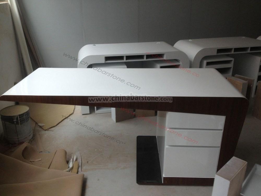 High Quality Modern Office Furniture Director Desk Solid Surface Exclusive Desks