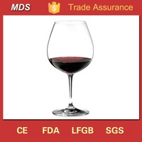 Glassware manufacturers red tinted round german wine glass