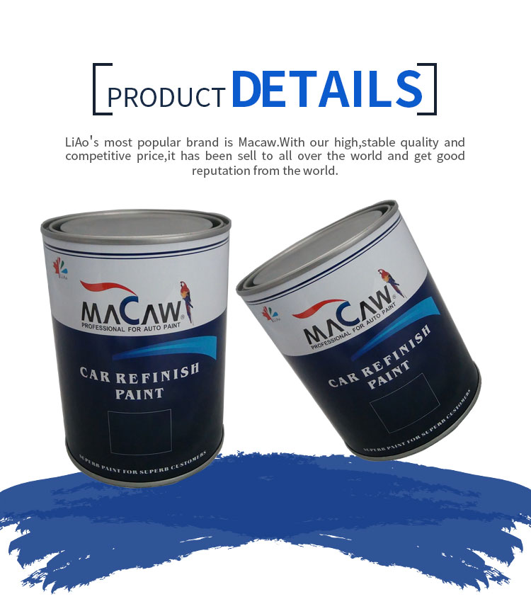 MACAW 1K solid color car paint WSM50 Carmine acrylic basecoat car paint
