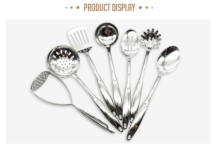 Factory supplied directly kitchenwares stainless steel kitchen accessories tool set