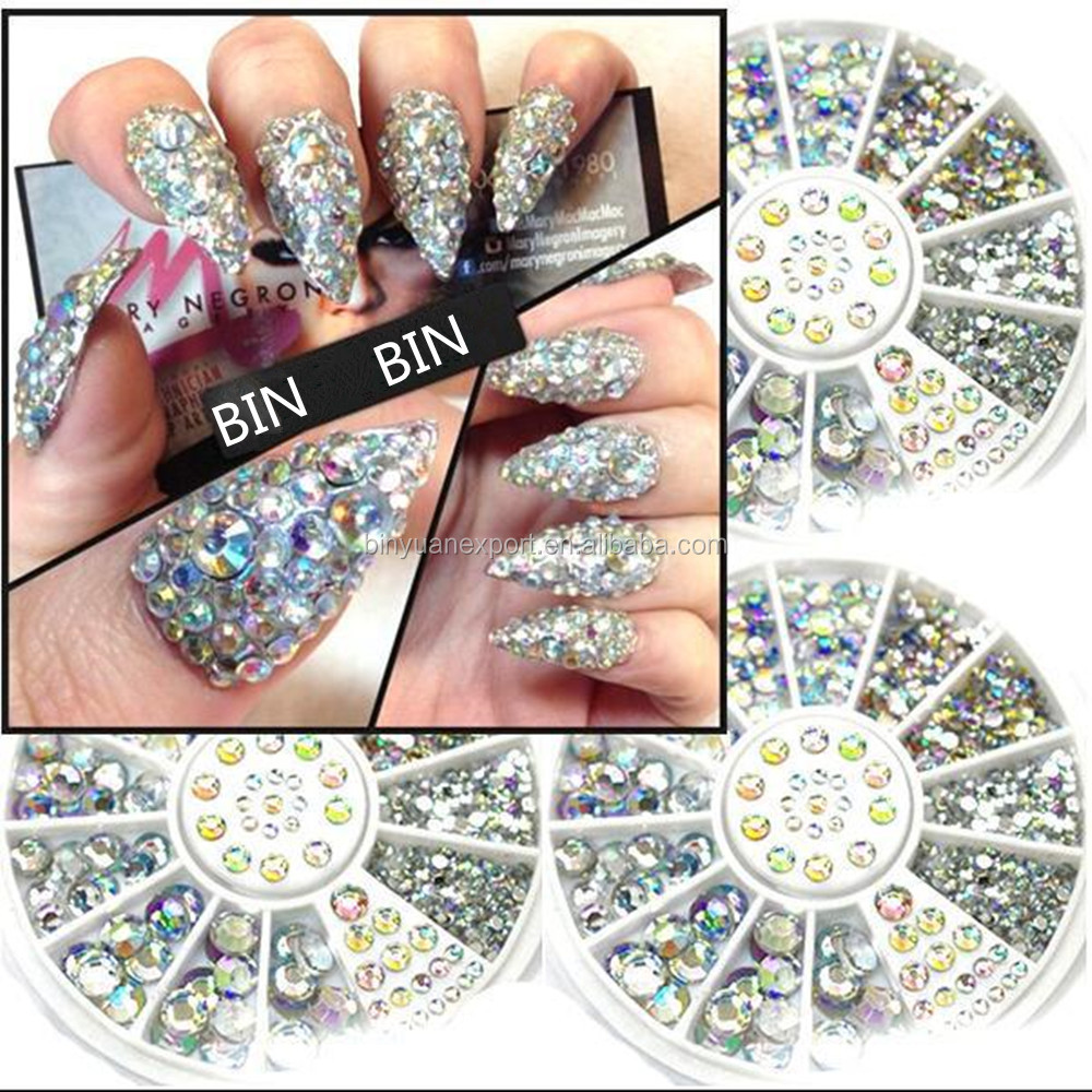 2019 BIN BY-ND-W107 House Eyes Style Nail Art Rhinestone Wheel