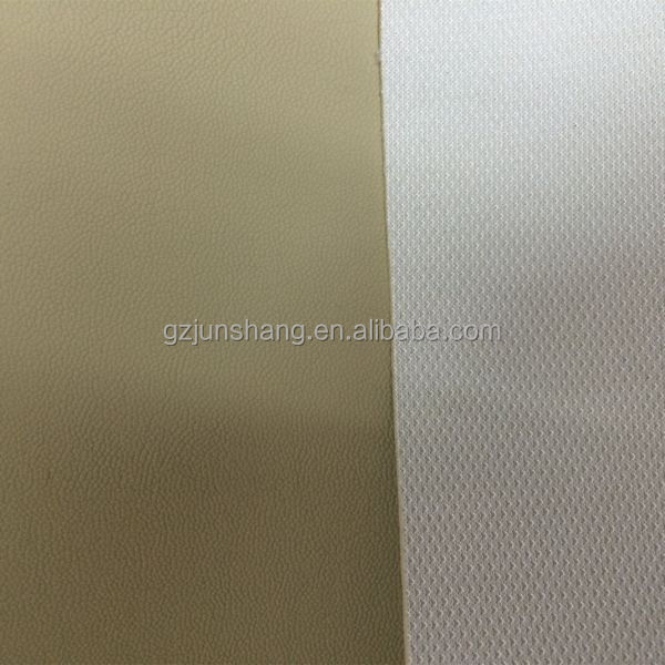 Rexine PVC leather cloth same with leather design, use for car seat and furniture cover