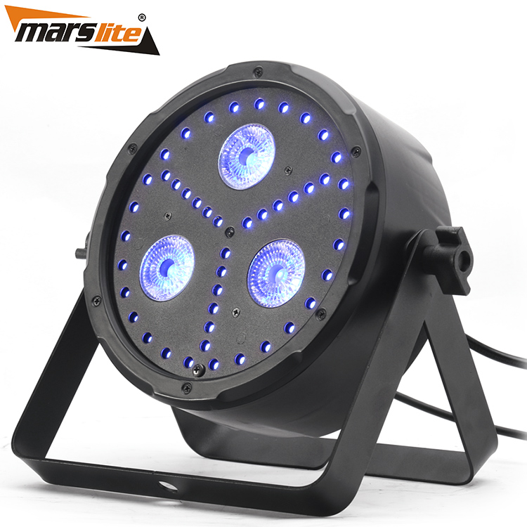 Marslite new stage light 3x8W RGBUV 4in1 led mini projector beam par can light