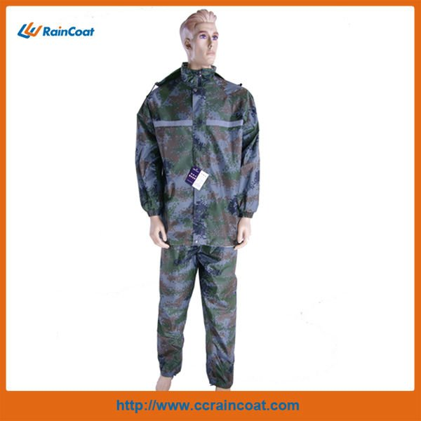 Police waterproof nylon camouflage clothing rain jacket