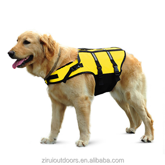 Manufacturer winter dog life jackets for practice swimming fluorescent color anti-drowning