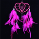 Double love heart wind chimes white feather indian dream catcher