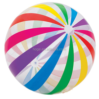 42 inch Inflatable Glossy Big Panel Colorful Giant Beach Ball