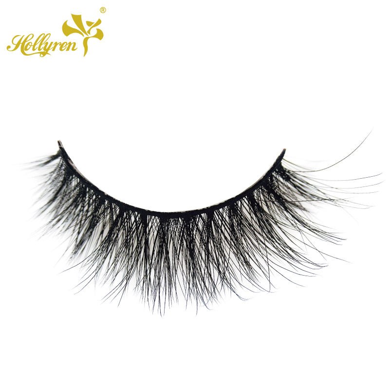 Qingdao Hollyren Cosmetics CO.ltd Sambe Lash Luxus Nerz Wimpern Private Label Großhandel Private Label 3D Faux Nerz Wimpern