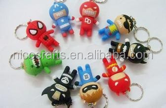 Marvel Super Heroes soft pvc usb case/ usb flash drive
