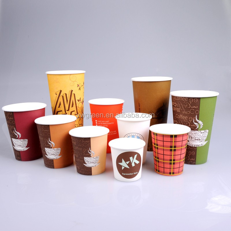 cheap hot drink single wall logo printed coffee paper cup 6oz
