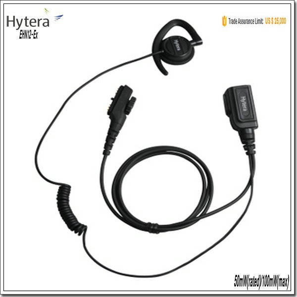 PTT - ON - MIC ears hang no microphones pipe explosion proof EHN12-Ex headset suit for PD79X Ex, PD78X series and PD70X