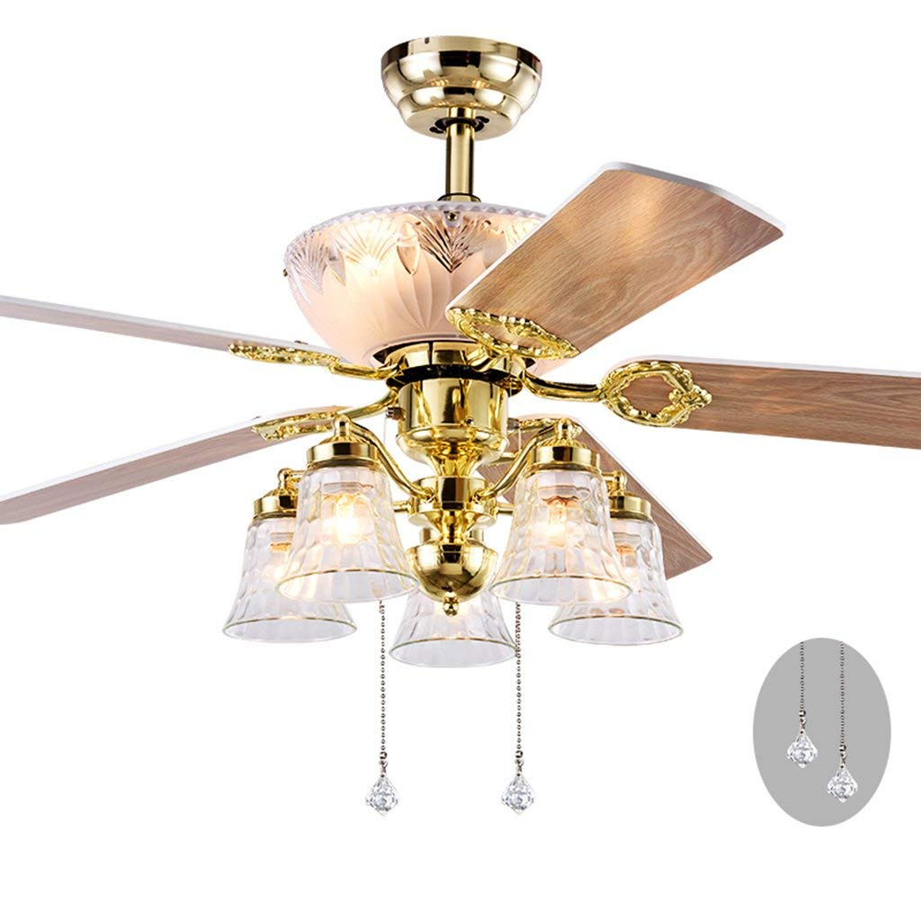 Get Quotations Ceiling Fans European Light Golden Fan Living Room Bedroom Dining Chandelier Nordic Electric
