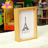 2016 hot sale baby wooden funny photo frame, most popular kids wooden funny photo frame W09A040