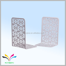 Metal snow shape white couple bookend for students school stationery