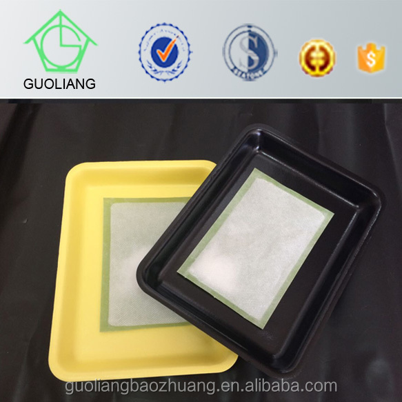 High Quality Food Storage Industry Use Food Grade Plastic Meat Container With Meat Packaging Pads