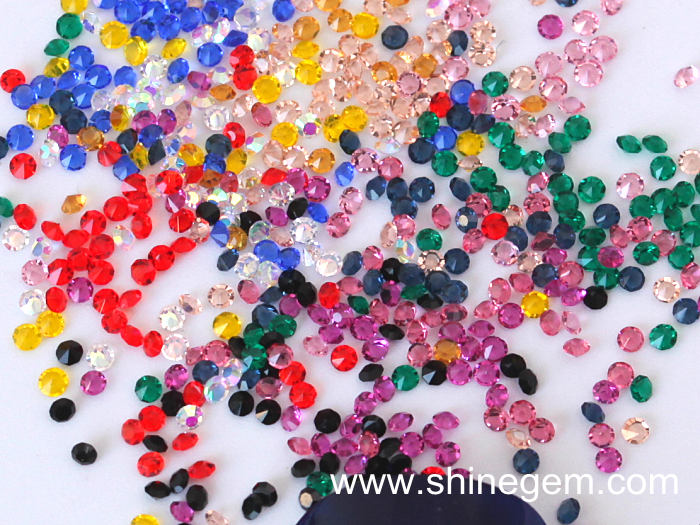 Factory over 32 colors 1440pcs 1.2mm Mini Nail Micro zircon Nail Art glass for Nail Art Decorations