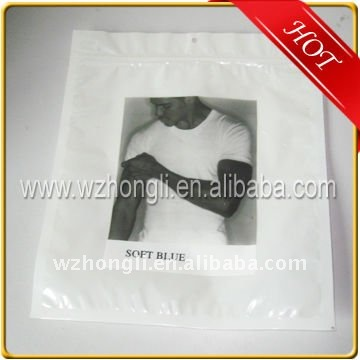 Hot Sale Plastic Ziplock T-shirt Shopping Packaging Bag