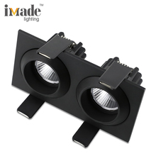 220 v cob verzonken led dubbele <span class=keywords><strong>downlight</strong></span> led 2x7 w