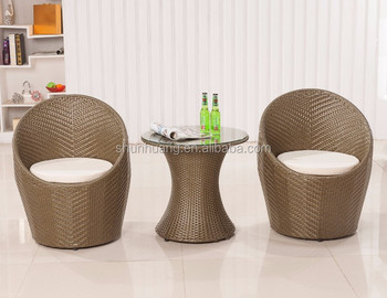 Hoge kwaliteit tuinmeubilair rotan nest rieten stoel met kussens