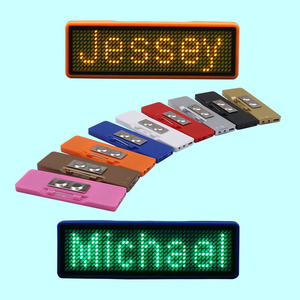 Programmable Waiters LED Name Badge Scrolling LED Message Badge