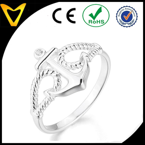 Hottest on Alibaba Stainless Steel Anchor Ring, Custom Stainless Steel Jewelry