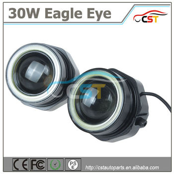 Hot Sell 30W 12 Volt Daytime Running Light 18mm 23mm Eagle Eye Led  Waterproof Yellow Turn