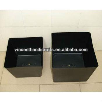 Countryside Flower Box Cheap Square Black Plastic Planter Buy