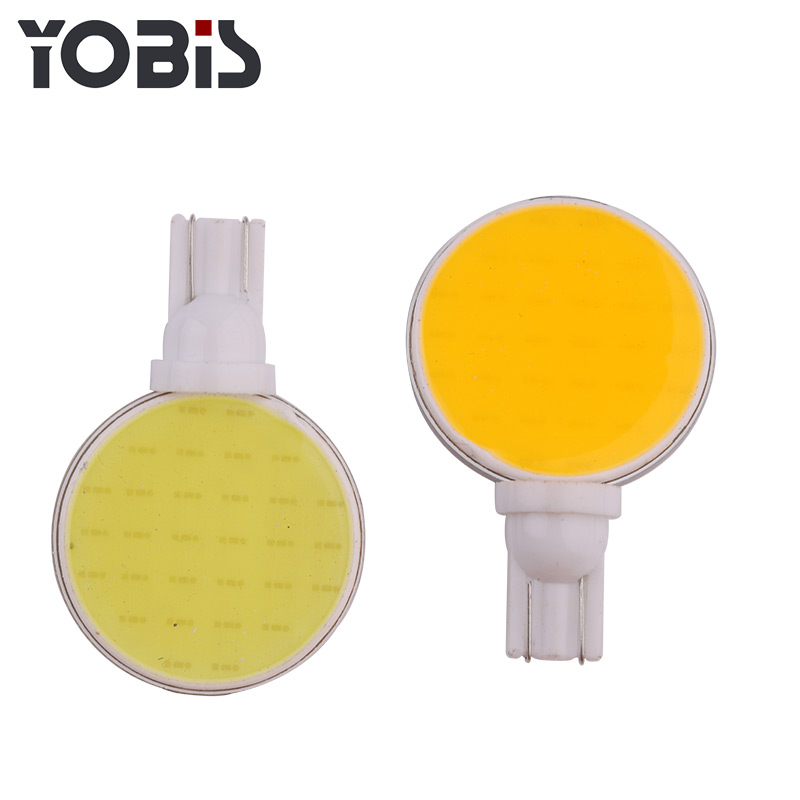 YOBIS 6000k 360lm 12v 5w 168 194 t10 w5w Cob LED Lighting for Number Plate Bulbs