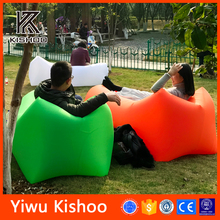 high quality Inflatable lounger lay bag led lighting banana sleeping bag air filled sofa