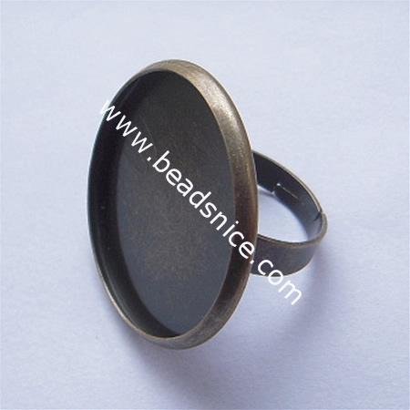 Beadsnice ID 5891 wholesale copper setting nickel free lead safe ring base