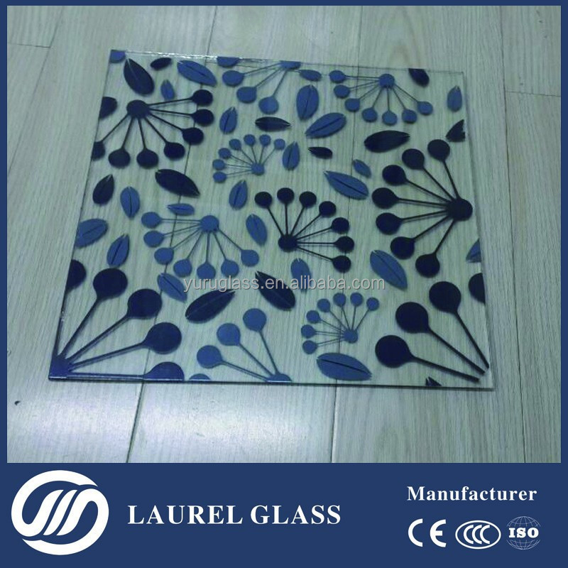 Silk Screen Print Colored Glass Sheets