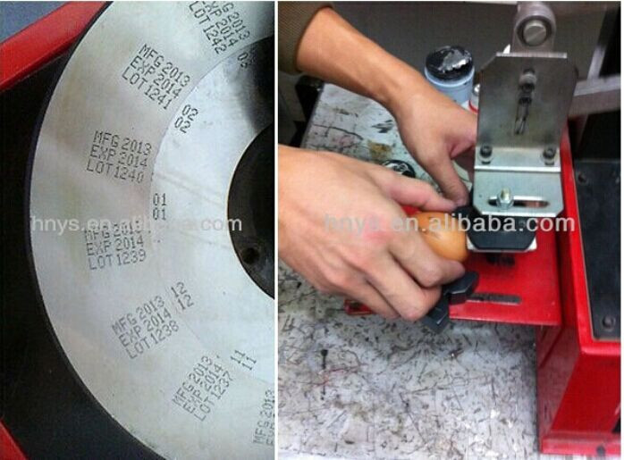 expiration and manufacturer date print stamp machine for plastic cosmetic bottles