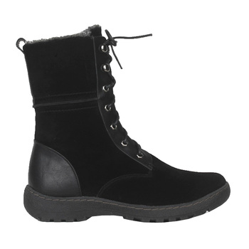 Lace Up Fashion design Classic Casual Suede Leather Winter Women Half Boots