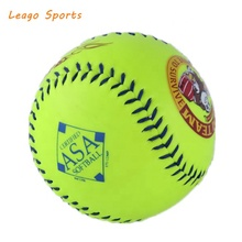 Slowpitch softball with polyurethane core