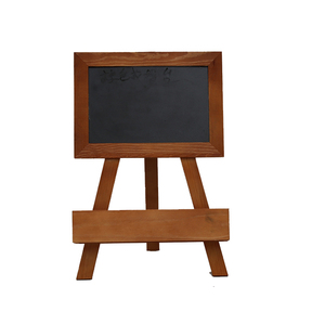 Wooden frame chalk slate writing blackboard with chalk
