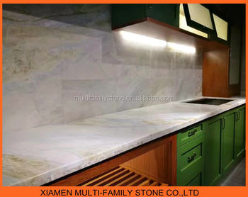 Natural White Onyx Marble Bar Top