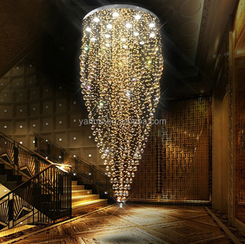 Large contemporary hotel lobby hall ballroom long height k9 crystal large contemporary hotel lobby hall ballroom long height k9 crystal modern lighting chandelier aloadofball
